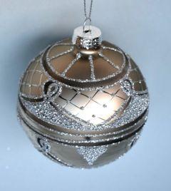 Stor Julekule Med Vakkert Mønster - 2Pk