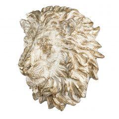 Stort Flott Hvitt Løvehode