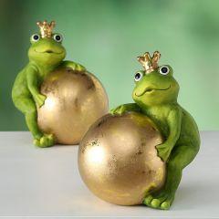 Grønn Frosk Med Gullkule