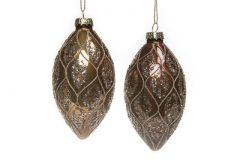 4 Pk Eksklusive Leaf Brown Julekuler