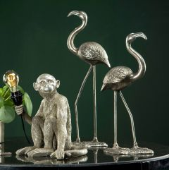 Lekker Flamingo - Antikksølv XL