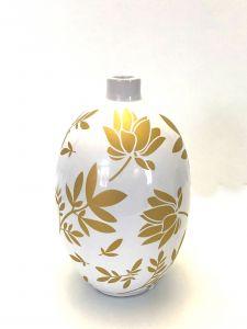 Lekker Hvit&Gull Vase