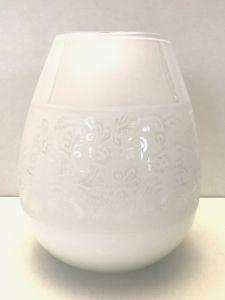 Lekker Hvit Blank Vase Med  Mønster