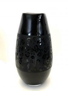 Lekker Sort Vase Med Mønster