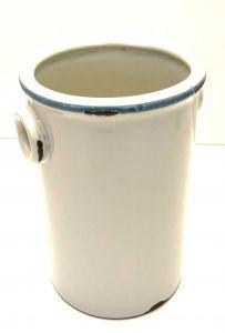 Hvitt Nostalgisk Keramikk Spann