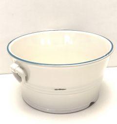 Hvit Nostalgisk Keramikkskål