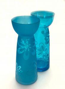 Sett Med 2 Turkise Glassvaser