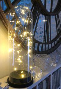 Vakker Glasskuppel Med Ledlys