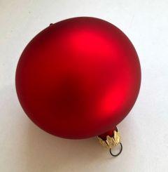 Box Med 9 Matte Røde Julekuler