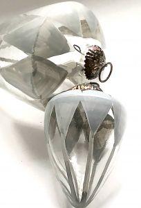 Stor Lekker Nostalgisk Julekule I Glass