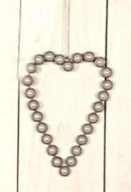 3 Pk Vakre Perlehjerter
