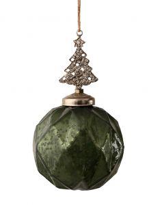 2 Pk Grønne Julekuler Med Juletre
