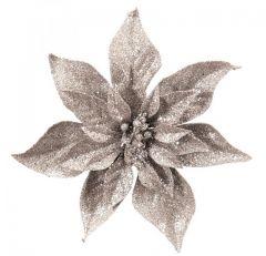 Stor Sølv Julestjerne - Med Klips