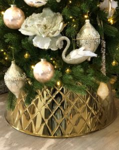 NYHET - Harlekin Juletrefotskjuler i Gull  - Juletreskjørt