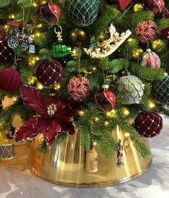 NYHET - Lace Gull Juletrefotskjuler - Juletreskjørt