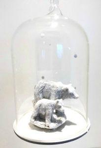 Glassklokke Med Isbjørn
