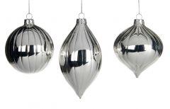 Vakre Skinnende Sølvkuler - 3Pk