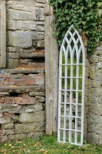Stort Vakkert Gotisk Speil