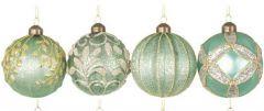 Vakre Isgrønne Glasskuler- 8Pk