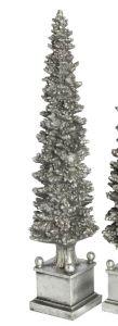 Sølvfarget Juletre På Base 46cm