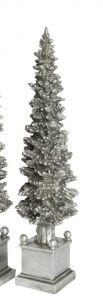 Sølvfarget Juletre På Base 40cm