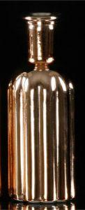 Vase Med Riller I Rosegull